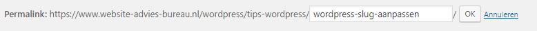 WordPress slug aanpassen