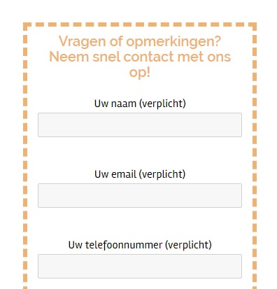 Contact form 7 probleem opgelost!