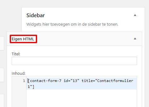 Contact form 7 werkt niet-meer na update2