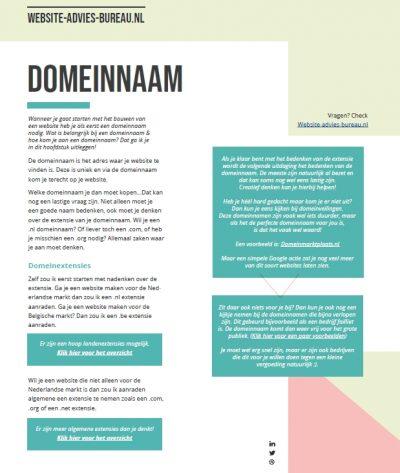 Uitleg over domeinnaam